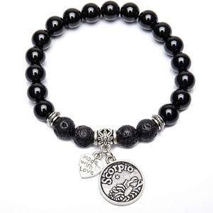 """🌟Zodiac sign """"Scorpion"""" Lava Stone bracelet 🌟*"""